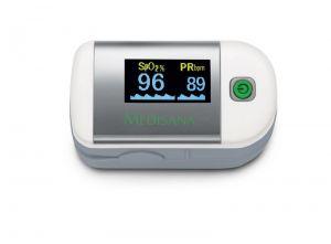 Уред за измерване нивото на кислород в кръвта и сърдечния пулс Medisana Pulse oximeter PM 100, Германия
